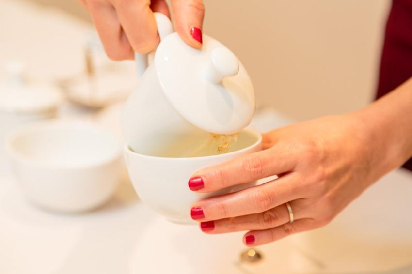 cata de té con Técnicas de Perfumistas